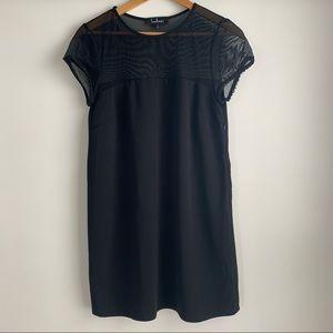 Lulu's Women's Black Short Sleeve Mini Dress